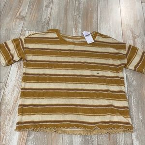 NWT AE super soft striped thermal tee xs